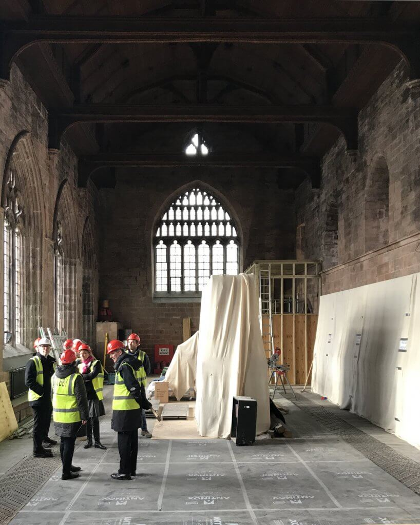 Construction at Carlisle Cathedral has begun - Feilden Fowles